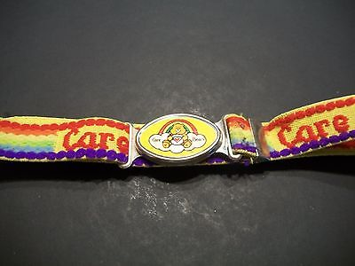 Vintage 80s Care Bears Belt Adjustable Childs Size Gay Rainbow Care-a-Lot Funshi
