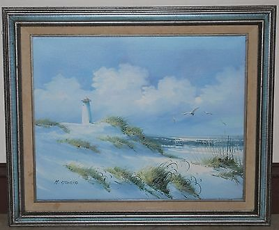 "Seascape by H. Gloria Oil on Canvas 16"" X 20"" / 21"" x 25"" framed"