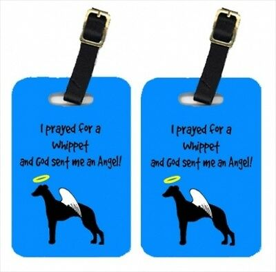Carolines Treasures AN1072BT Whippet Luggage Tag - Pair 2 10cm x 7cm .