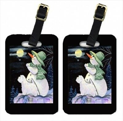 Carolines Treasures SS8797BT Snowman With Westie Luggage Tag - Pair 2 10cm x