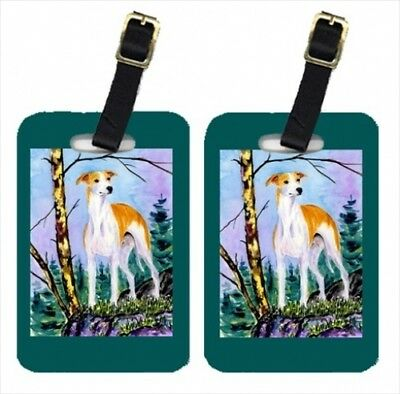 Carolines Treasures SS8662BT Whippet Luggage Tag - Pair 2 10cm x 7cm .