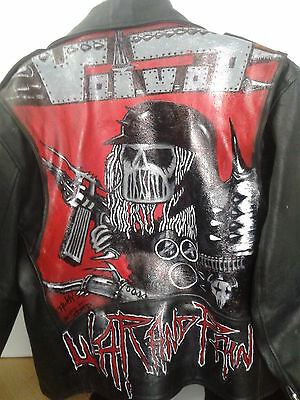 Voivod  War and Pain hand painted biker jacket by JDuffy, leather