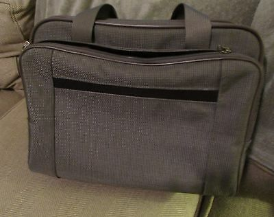 New Hartmann gray tweed carry on computer bag luggage with extra strap