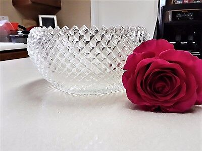Anchor Hocking Miss America Clear Deep Fruit / Serving Bowl Straight Sides