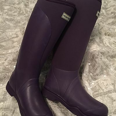 Hunter Field Women's Boots Sz7 Balmoral Equestrian Neoprene Stretch Rain Boot