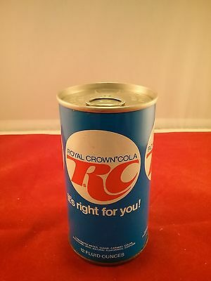 RC Cola Royal Crown Sealed Air Filled Soda Can Steel