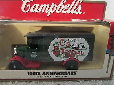 Campbells Soup 100th Anniversary Die-Cast Vampbells Soup  TomatoTruck Truck  NIB