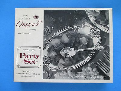NEW Old Stock 2-Piece Party Set Genuine Silver in Original Wrap Packaging