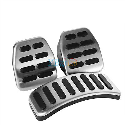 3x Stainless Steel Pedals Pads Set Car MT LHD For SKODA Fabia Octavia Rapid NH