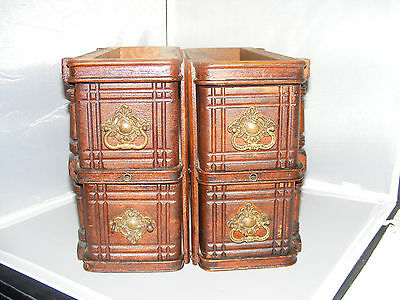 4 Antique 1887 Singer Treadle Sewing Drawers, Organizers, Storage Drawers (R)