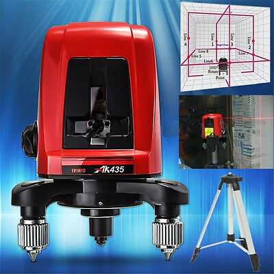 1Pc AK435 360 Degree Self-leveling Cross Level 2 Line 1 Point with Package