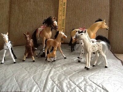 Lot Of 8 Kid Kore Toy Horses Used