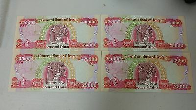 4 X 25,000 Irapi Dinar Uncirculated total 100,000 Dinar ! Brand New!