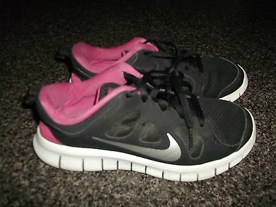 Nike  Free  5.0  Black  Pink  Silver  White     Girls  Sz. 2Y   Just Reduced
