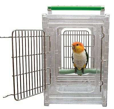 Perch and Go Clear View Bird Carrier and Travel Cage