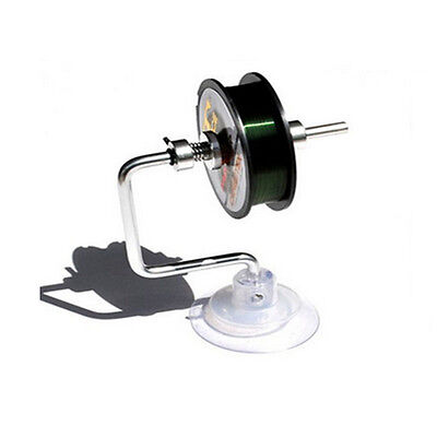 Fishing Line Reel Spooler Tensioner Winder System Tackle Fishing Supplies Silver