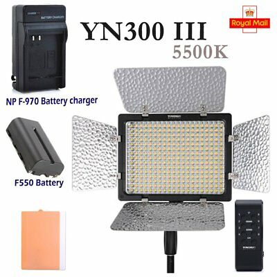 Yongnuo YN300 III 5500K LED Video Light Pro with Battery & Charger + Remote UK