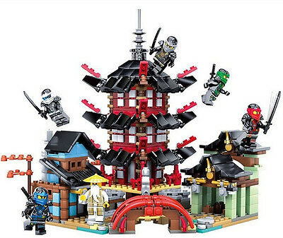737 pcs Ninja Temple of Airjitzu Ninjagoes Smaller Version Bozhi  Building Block