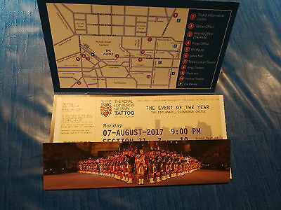 Ticket Edinburgh Military Tattoo, Monday 07AUG17 9pm Section 11, Row Z, Seat 9