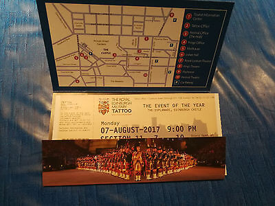 Ticket Edinburgh Military Tattoo, Monday 07AUG17 9pm Section 11, Row U, Seat 8