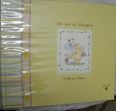 Classic Winnie the Pooh Joy of Discovery Memory Album Baby Book Disney CR Gibson