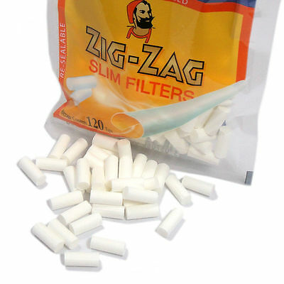 Zig Zag SlimRolling Paper Filter Tips - 3 Bags of 120 ea