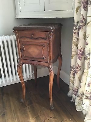 French antique oak louis xv style marble top bedside table - FREE DELIVERY!!!