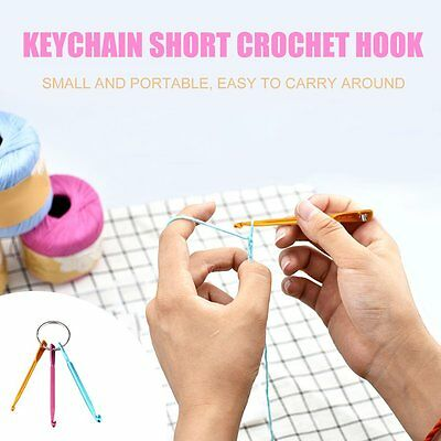 3.0/4.0/5.0MM Key chain with Crochet Hooks Aluminum Key chain Crafts Knitting CN