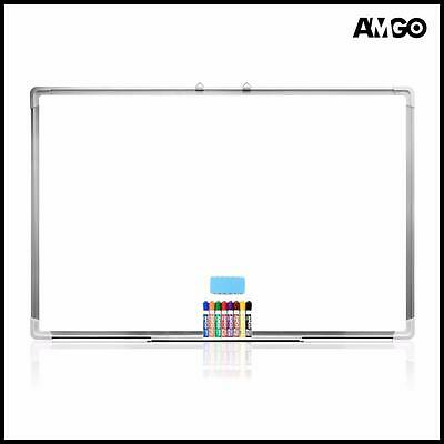Amgo 47 x 36 Inches Magnetic Dry Eraser Board Whiteboard with 8 Colors Markers