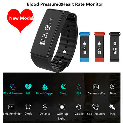 Smart Watch Heart Rate Blood Pressure Monitor Fitness Tracker Wrist band Steps