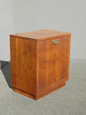 "25"" Tall Vintage Danish Mid Century Modern Style RECORD CABINET Side Table"