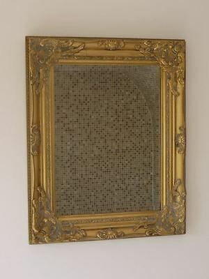 Vintage Rustic French Gold Wall Mirror