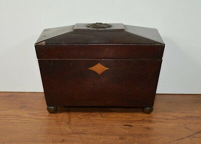 Antique Mahogany Tea Caddy