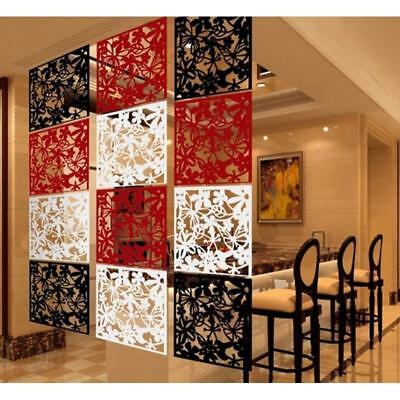 4Pcs Hollow Out Flower Hanging Screen Room Divider Partition Panel Wall Decors