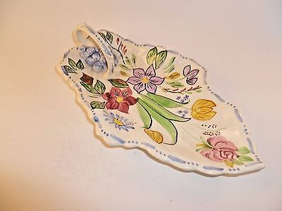 Blue Ridge China Southern Potteries Summertime Leaf Shape Nappy  Candy Dish