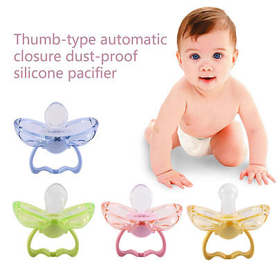 Baby Newborn Safety Pacifier Anti-dust Dummy Silicone Soother Orthodontic Nipple