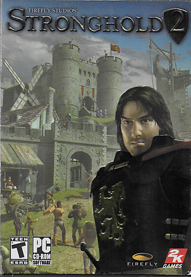Stronghold 2 PC CD ROM 2005 2-Disc w Instruction Booklet & Box Castle Siege