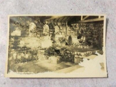 Vintage 1930s RPPC Postcard: The Fountain of Youth, Chapel St. Augustine Florida