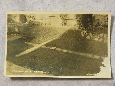 Vintage 1930s RPPC Postcard: Fountain of Youth Old Cross St. Augustine Florida