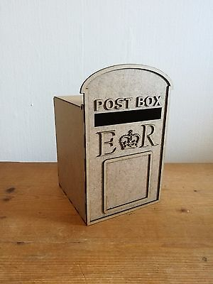 MINI *Personalised* Wedding Post Box, Royal Mail- Flat Pack Unpainted MDF Cards