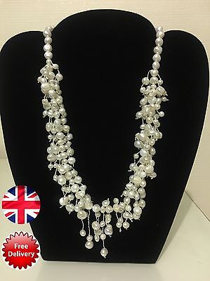 Sterling Silver Fresh Water Pearl Necklace Free Postage