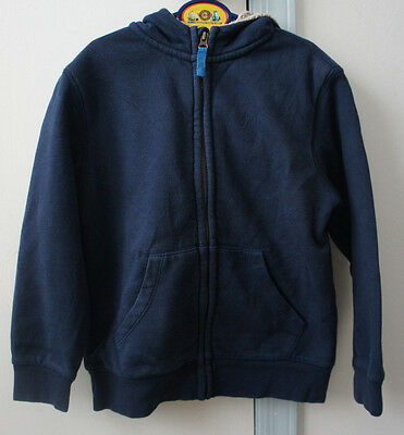 Lands' End Boys size 7  L Blue  zip front   hoodie sweatshirt