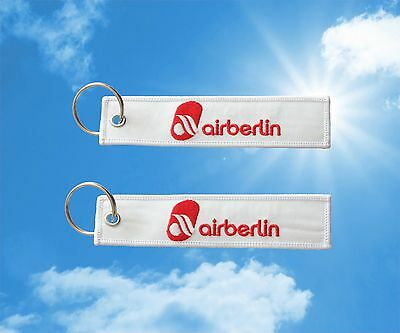 Air Berlin keychain keyring baggage luggage tag