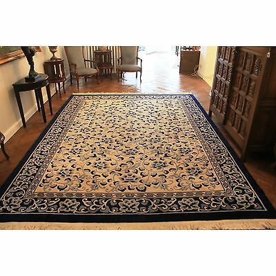 Fein Handgeknüpft China Art deco Peeking Teppich Lotusblüten Carpet 370x270cm
