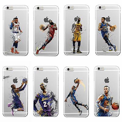 Basketball NBA Legends Soft Case Cover For iPhone 6 6S plus 7 Samsung J5 S7 edge