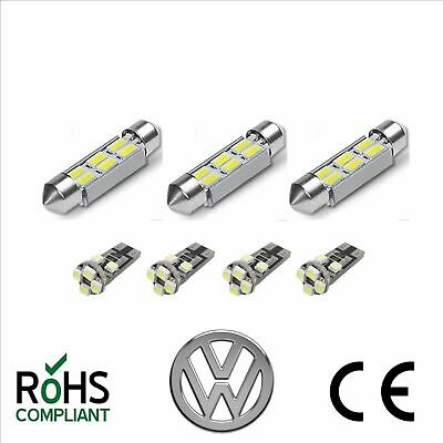 VW T5 T5.1 T6 Transporter Bright White 7 x LED Interior Lighting Upgrade Kit