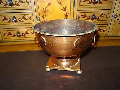 Vintage Copper and Brass Stylish Bowl-Arts and Crafts