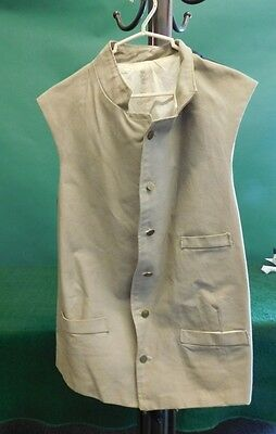 Colonial Reenactor's Vest with Brass Buttons, Reenactment Revolutionary