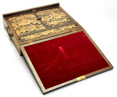 Antique Chinese Lacquer Writing Box Early 19Th C.