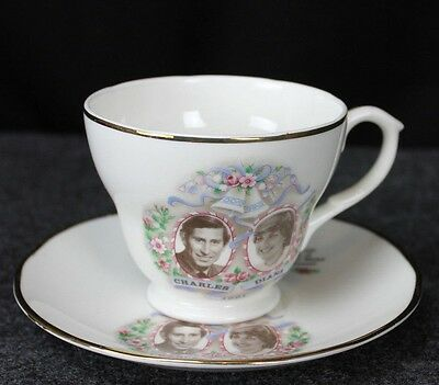 Princess Diana and Prince Charles Tea Cup and Saucer - Colonial, Royal Sealy